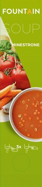 Minestrone , italienische Gemüsesuppe